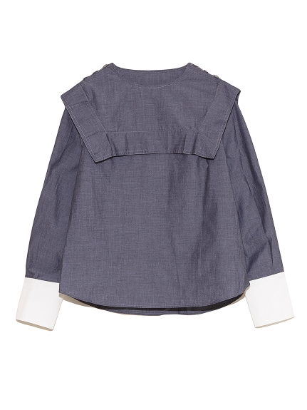 セーラーカラーシャツ(BLK-F)