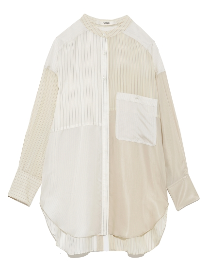 ストライプバンドカラーシャツ(IVR-F)
