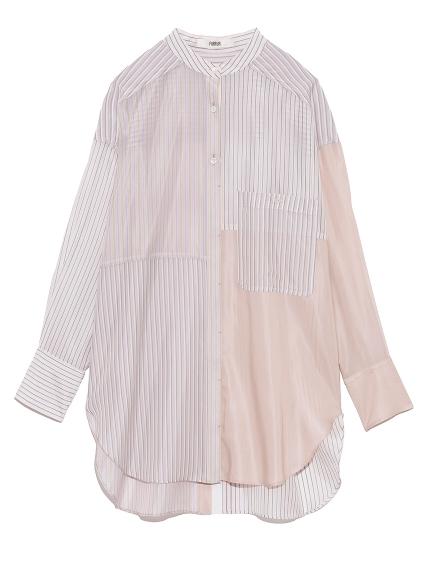 ストライプバンドカラーシャツ(PNK-F)