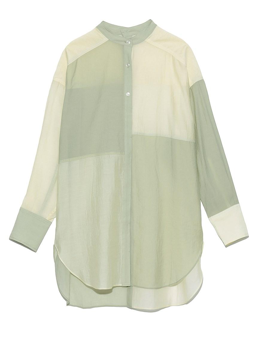 ミックスバンドカラーシャツ(GRN-F)