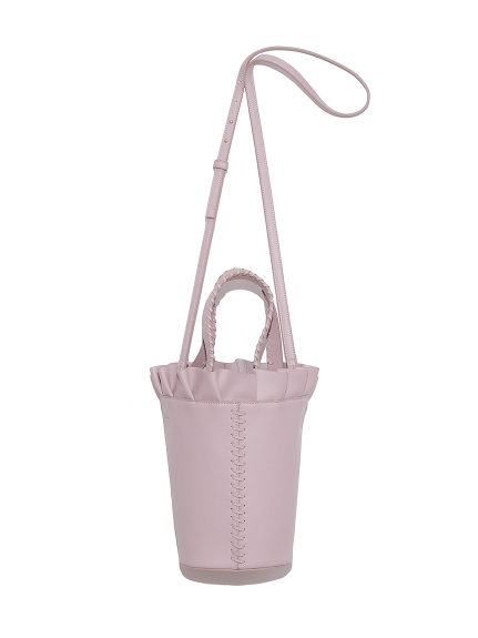 フリルバケットバッグ