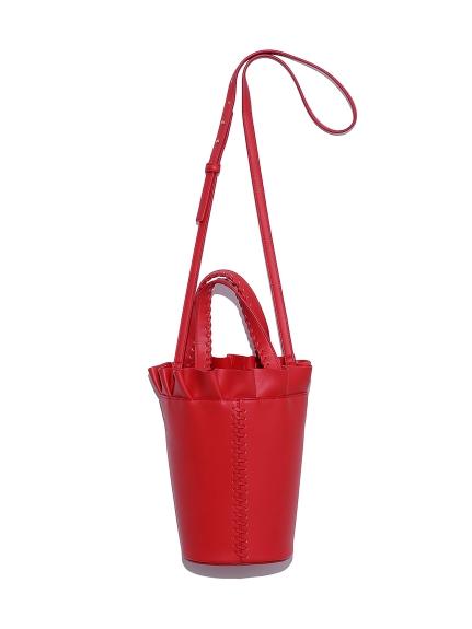 フリルバケットバッグ(RED-F)