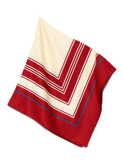 ジオメトリースカーフ(RED-F)