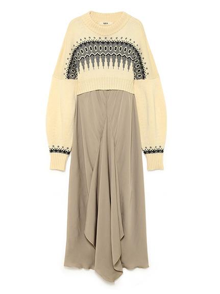 【限定】ノルディックリバーシブルニットドレス
