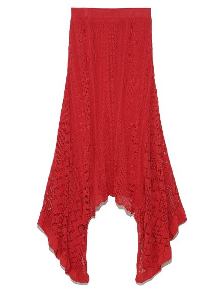 レーシーニットスカート(RED-F)