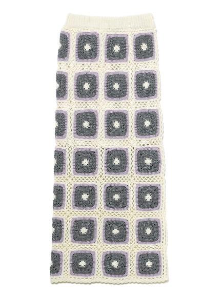 【WEB限定】フラワークロシェスカート
