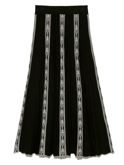 幾何フェアアイルスカート(BLK-F)