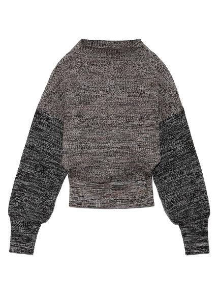 ミックスカラーボトルネックセーター(BRW-F)
