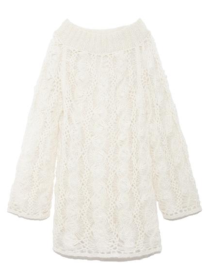 ヘアピン編みモヘアセーター