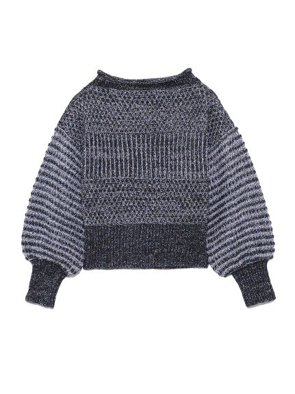 ローゲージミックスセーター