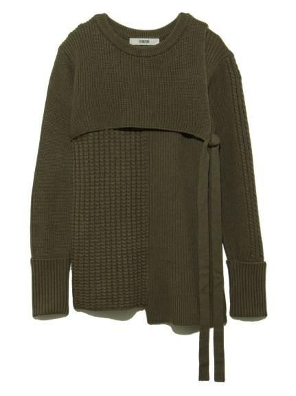 パッチワークミリタリーセーター