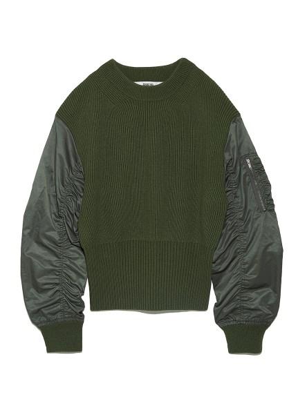 MA-1スリーブセーター
