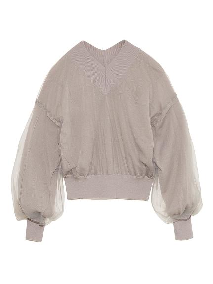 チュールラップセーター