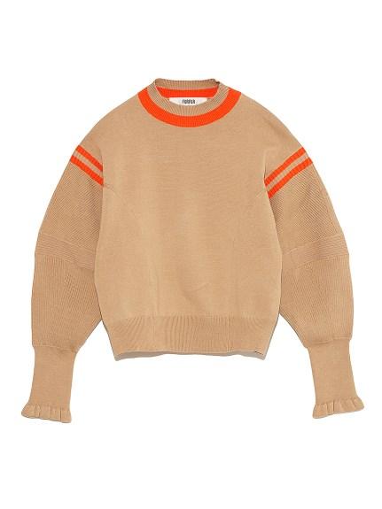 立体スリーブセーター