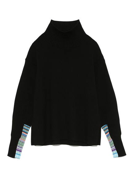 マルチボーダースリーブセーター