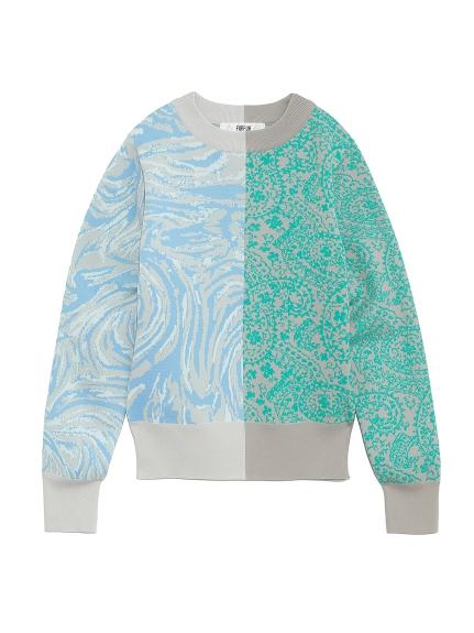 ハーフジャガードセーター