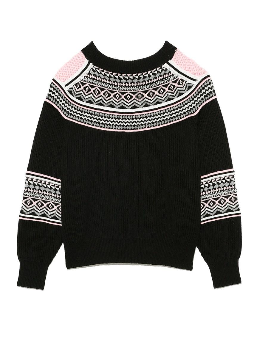 幾何フェアアイルセーター