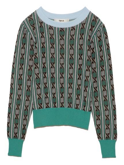 レトロジャガードセーター