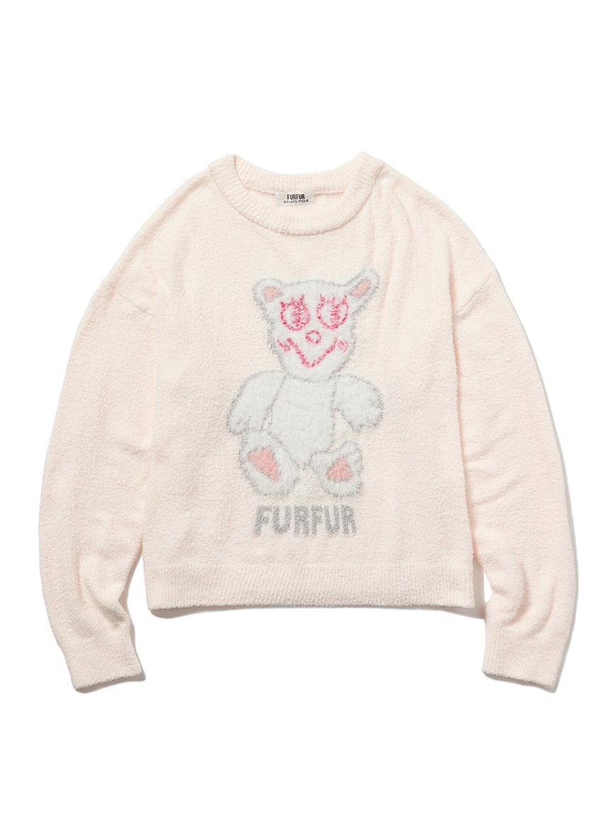 【FURFUR×gelato pique】スムーズィースースキスー♡プルオーバー(IVR-F)