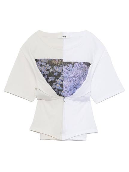 ハーフデザインプリントTシャツ | RWCT211096