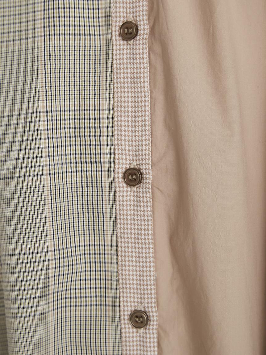 パッチワークシャツワンピース   RWFO214069