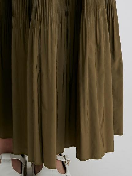 ロングタフタプリーツスカート | RWFS214002
