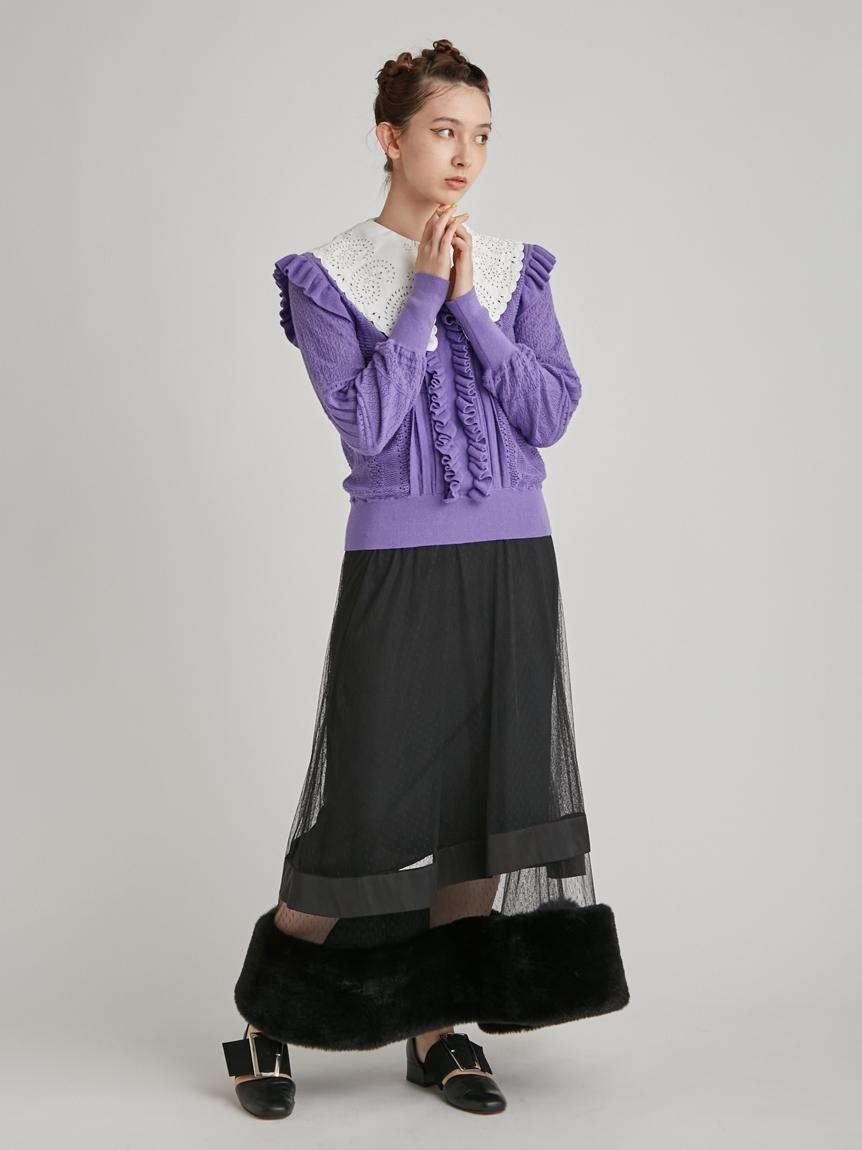 チュール×エコファースカート | RWFS215015