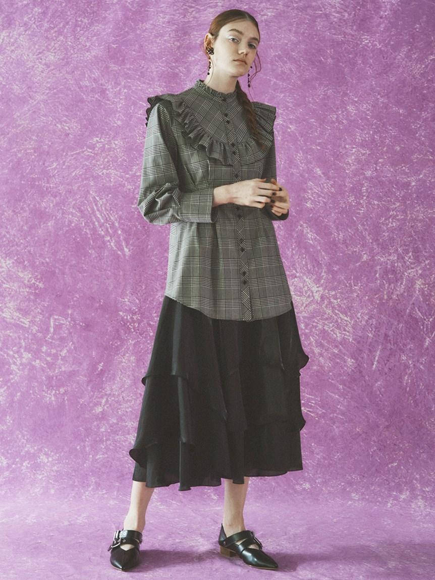 ランダムヘムシャイニースカート   RWFS215019