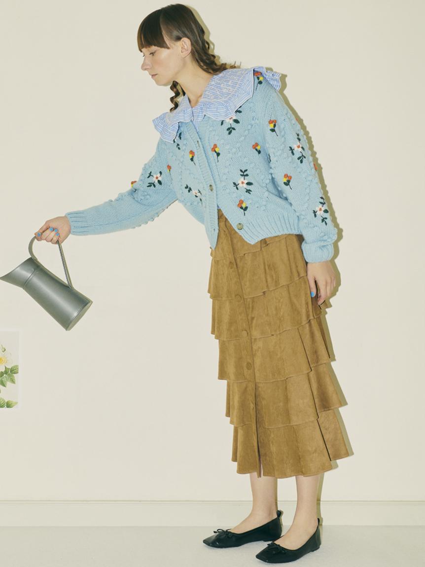 カットワーク刺繍衿ブラウス   RWFT214044
