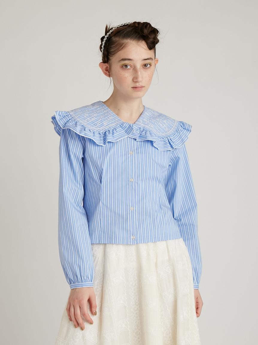 カットワーク刺繍衿ブラウス | RWFT214044
