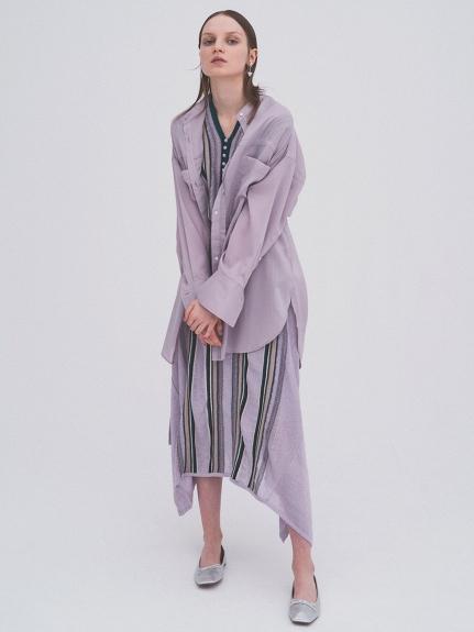 スクエアヘムニットスカート   RWNS212018