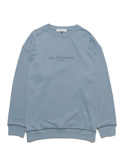 【GELATO PIQUE HOMME】エイトロックロゴプルオーバー(BLU-M)