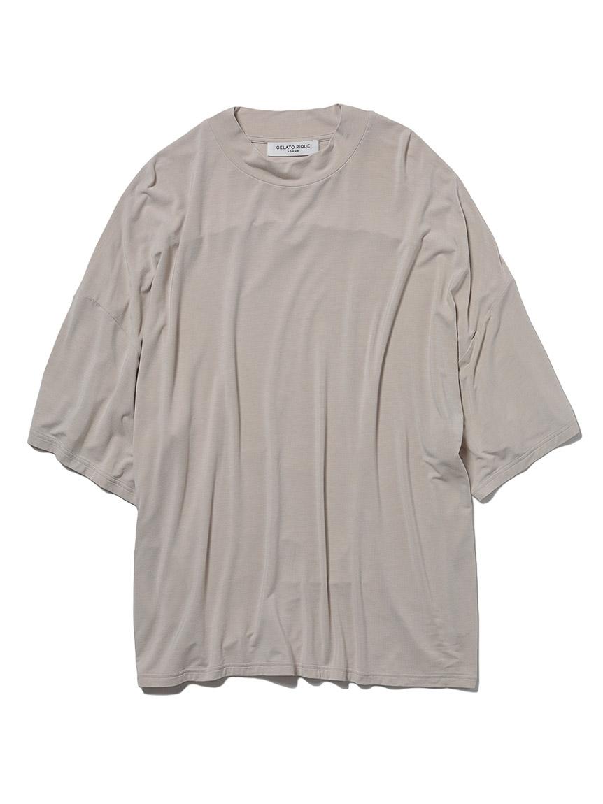【GELATO PIQUE HOMME】レーヨンシルクTシャツ(BEG-M)