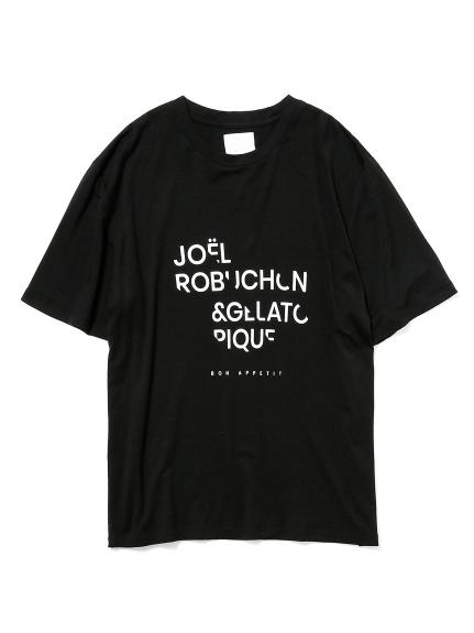 【Joel Robuchon & gelato pique】 HOMME テンセルシルクロゴTシャツ(BLK-M)