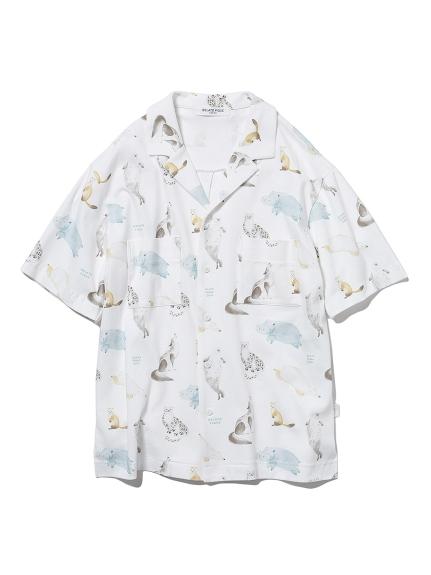 【旭山動物園】 HOMME アニマルモチーフシャツ(OWHT-M)