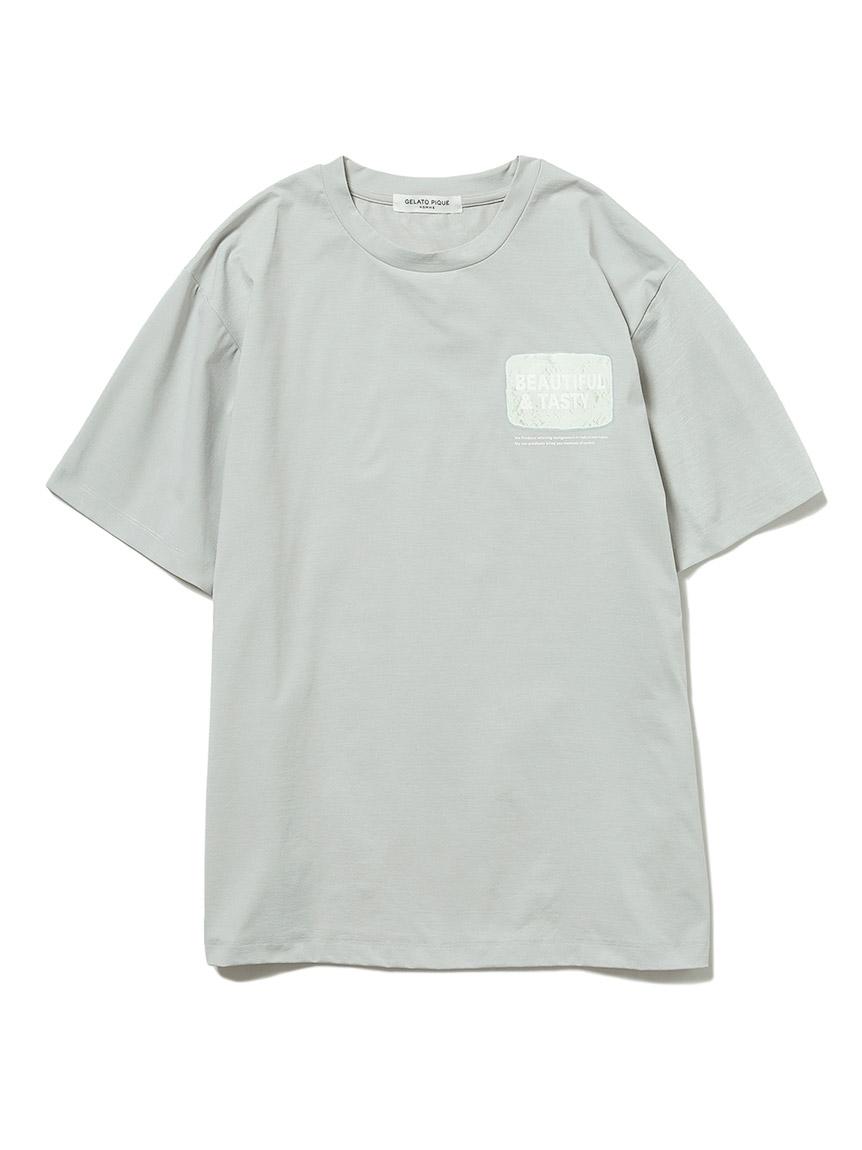 【GELATO PIQUE HOMME】ドライタッチワンポイントTシャツ(GRY-M)