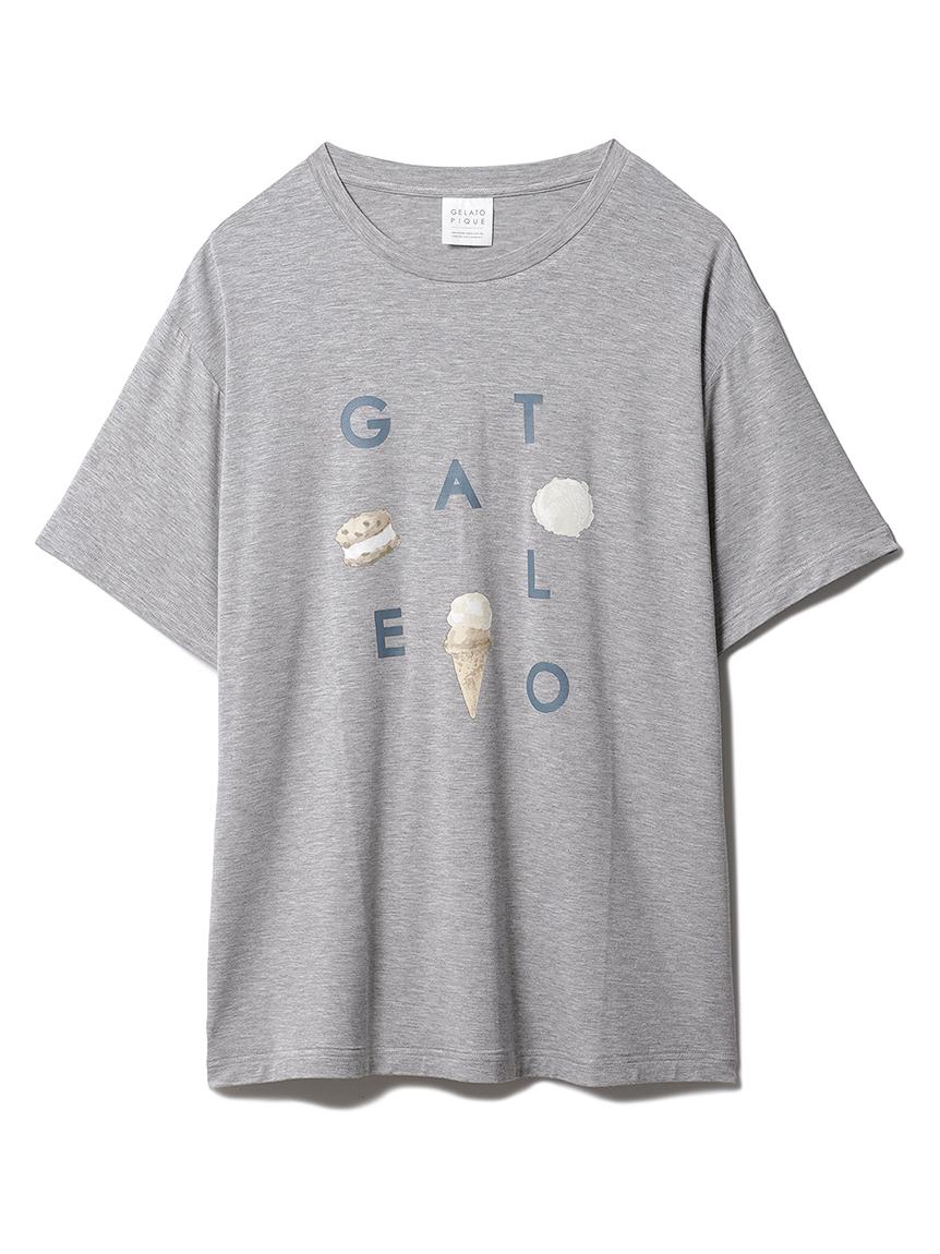 【GELATO PIQUE HOMME】 アイスロゴワンポイントTシャツ(GRY-M)
