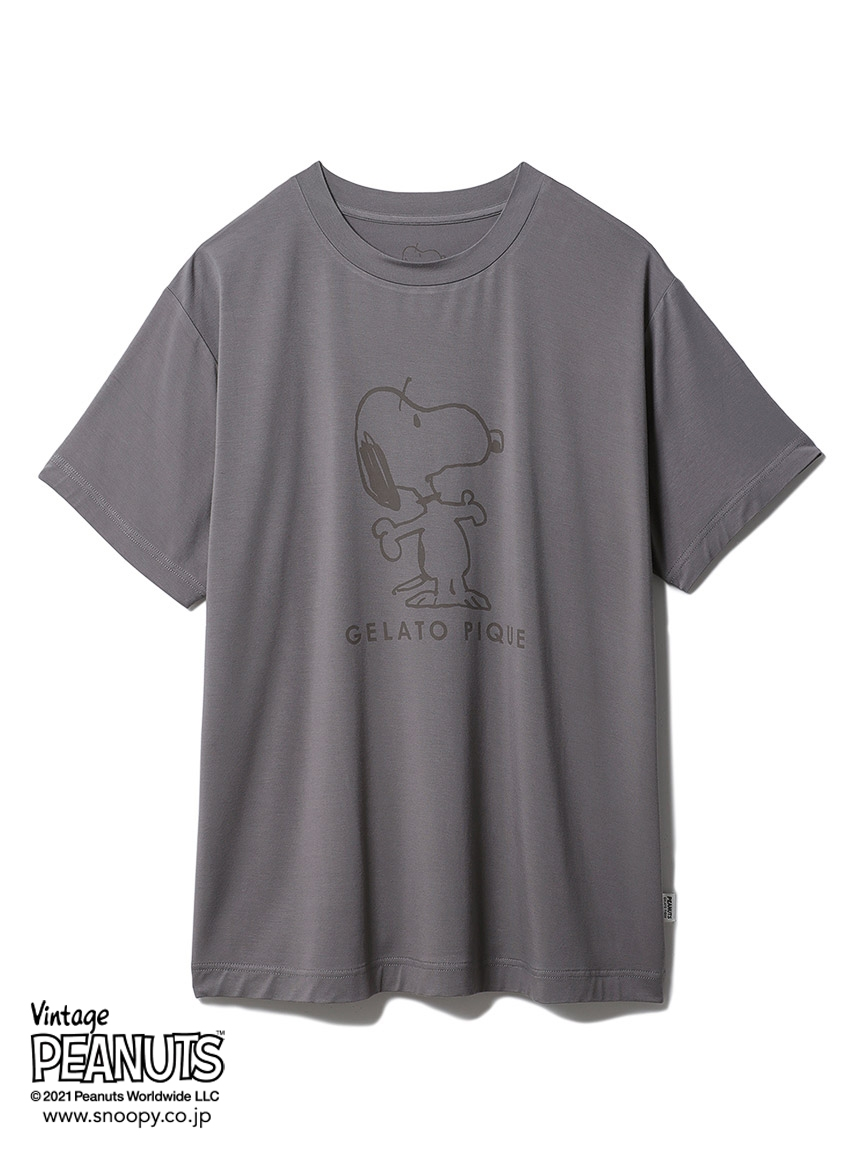 【PEANUTS】 HOMME プリントTシャツ(DGRY-M)