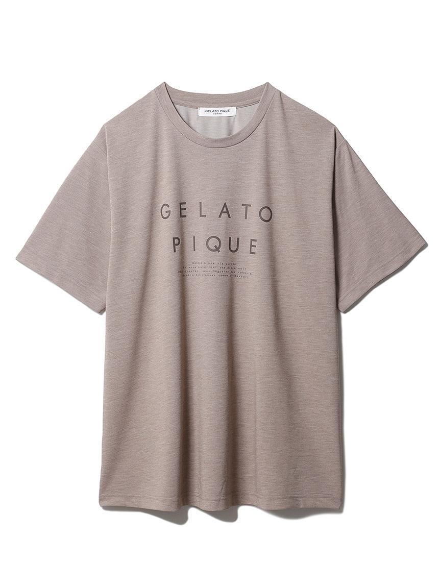 【GELATO PIQUE HOMME】 冷感ロゴTシャツ(BRW-M)
