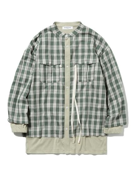 【GELATO PIQUE HOMME】チェックドッキングシャツ