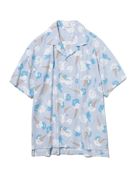 【GELATO PIQUE HOMME】アイスモチーフシャツ(BLU-M)