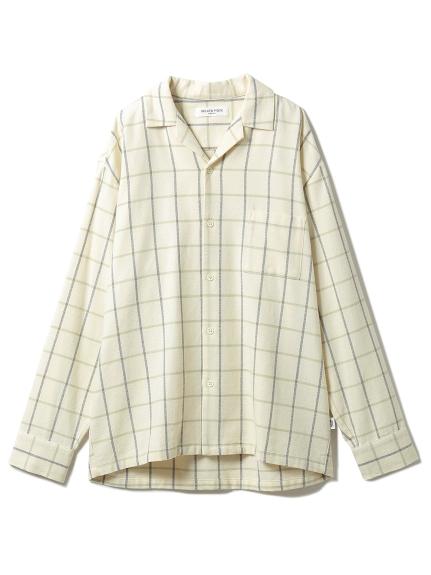 【GELATO PIQUE HOMME】 コットンチェックシャツ