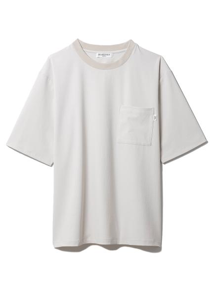【GELATO PIQUE HOMME】 ストレッチTシャツ(BEG-M)
