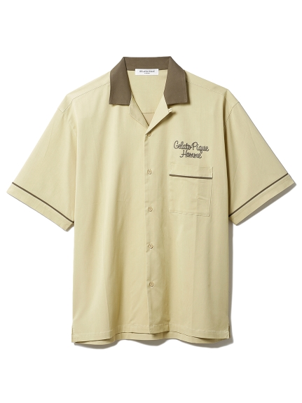 【GELATO PIQUE HOMME】 ボーリングシャツ(OLV-M)