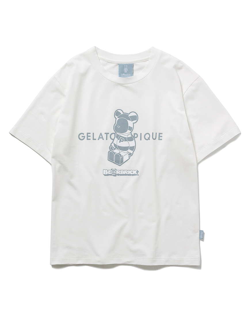 【BE@RBRICK】【ユニセックス】ワンポイントTシャツ(OWHT-(S-M))