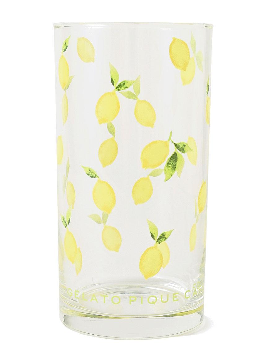 【GELATO PIQUE CAFE】レモン柄グラス(YEL-F)