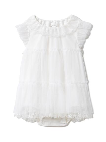 【BABY】スカラップチュール baby ロンパース
