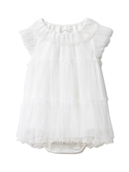 【BABY】スカラップチュール baby ロンパース(OWHT-70)