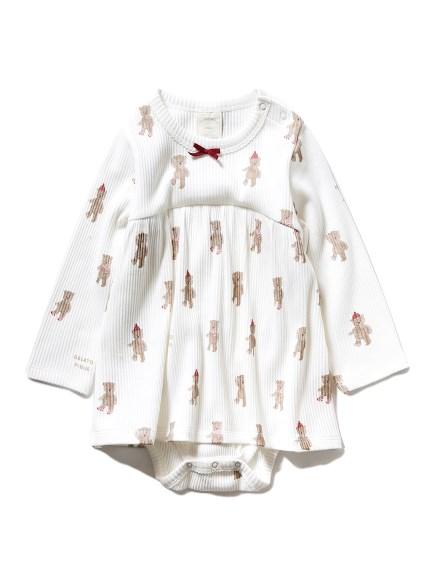 【BABY】テディベア baby ガールズロンパース