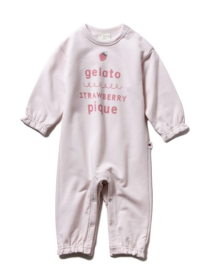【BABY】ストロベリーロゴワンポイント baby ロンパース